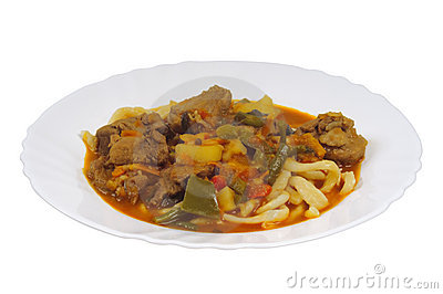 Braised lamb with noodles