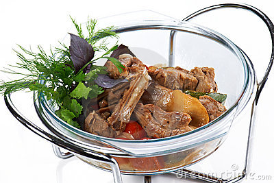 Braised meat ribs with vegetables