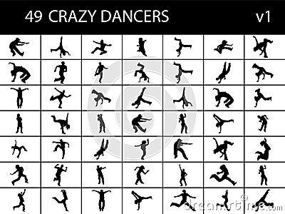 Brake dancers in group