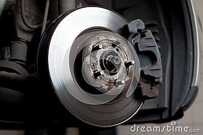Brake disc and brake pads