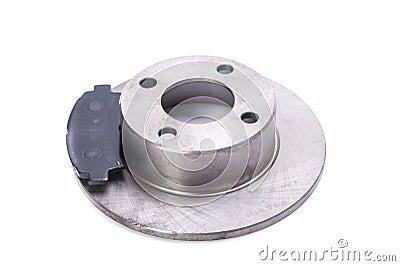 Brake disk with brake pads