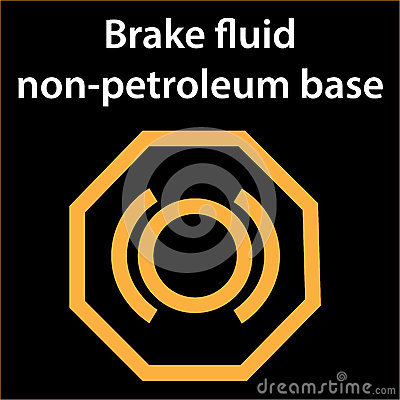 Brake Fluid Non Petroleum Base Icon - Illustration Dashboard