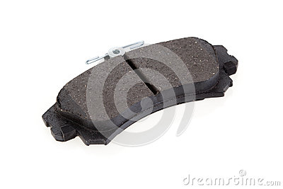 Brake shoe on a white background