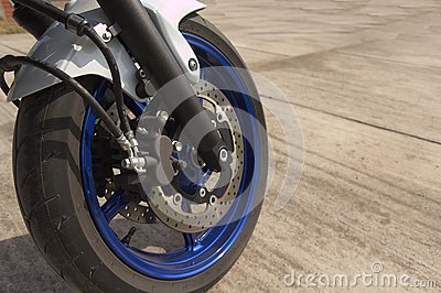 Brakes on motorcycle