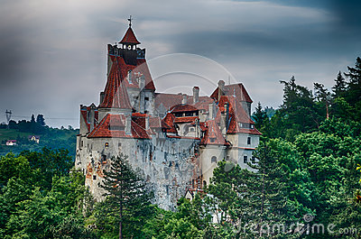 Bran Castle, HDR image, landmark in Romania