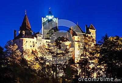 Bran Castle night, Dracula fortress in omania