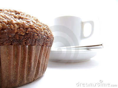 Bran muffin and coffee