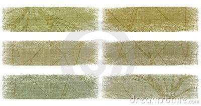 Branch on nautral earth tones banner set
