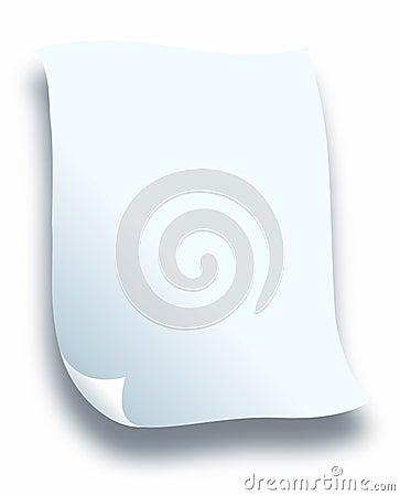 Branco do papel de letra