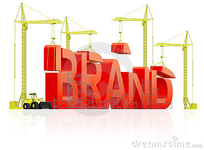 Brand building trademark or product name