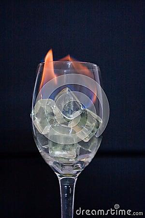 Brand in glas