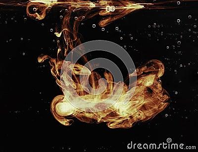 Brand in het water