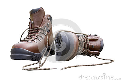 Brand New Hiking Boots Isolated on White