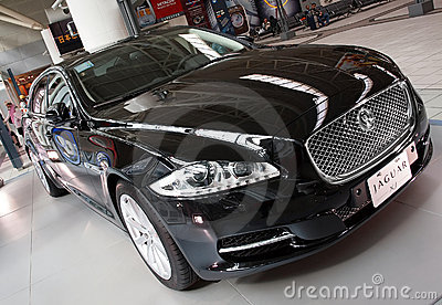 Brand New Jaguar Sedan XJ Editorial Stock Photo