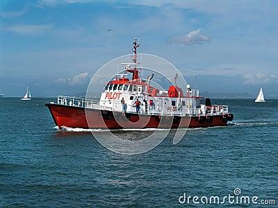 Brand new pilot ship in San Francisco Bay Editorial Photo