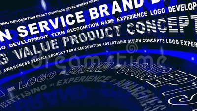 Brand Words In Motion Stock Footage Video 66134912