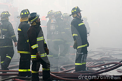 Brandbestrijders Redactionele Afbeelding