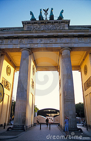 Brandenburg gate Berlin Editorial Photo