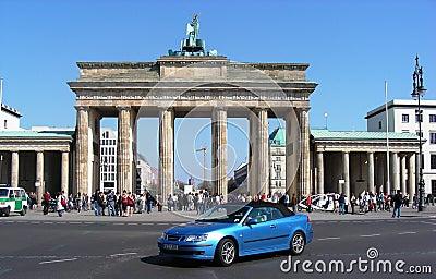 The Brandenburg Gate in Berlin, Germany Editorial Image