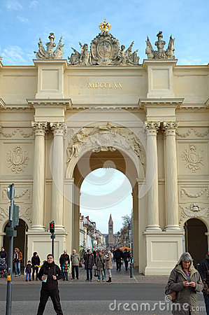 Brandenburg Gate in Potsdam Editorial Stock Photo