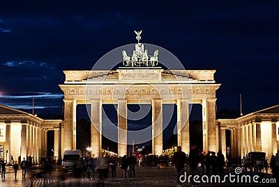 Brandenburg Gate on Editorial Photo