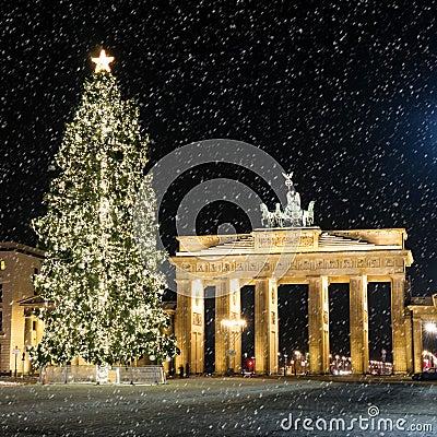 Brandenburger tor in december