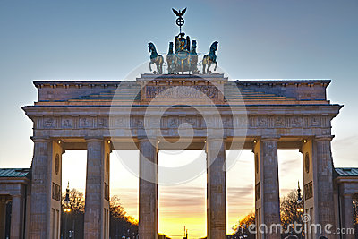 Brandenburger Tor at sunset