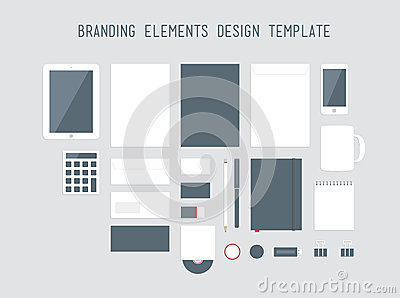 Branding design elements vector set