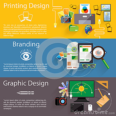 Free Branding, Graphic And Printing Design Icon Set Stock Photography - 53047452