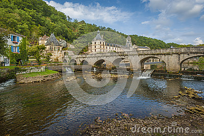 Brantome中世纪城镇