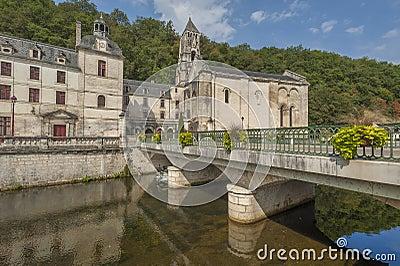 Brantome średniowieczny miasteczko