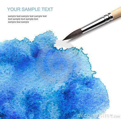 Free Brash And Watercolor Paint Stock Photos - 17111263