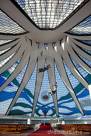 Free Brasilia Cathedral Brazil Royalty Free Stock Photos - 16010338