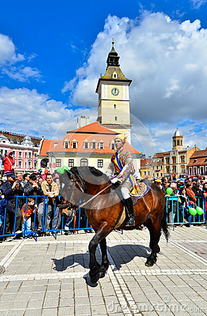 Brasov 777th aniversary, Juni Parade, Romania Editorial Stock Image