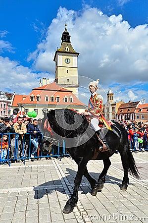 Brasov 777th aniversary, Juni Parade, Romania Editorial Photography