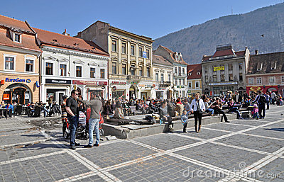 Brasov center Editorial Photo