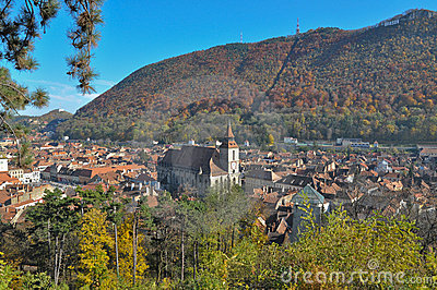 Brasov city in the fall