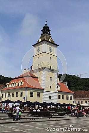 Brasov city hall and centre Editorial Photo