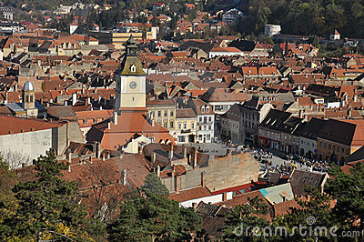 Brasov cityscape in the fall
