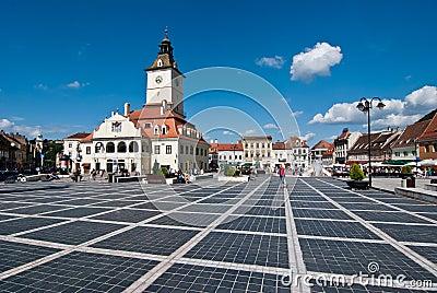 Brasov Council Square Editorial Stock Image