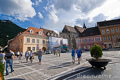 Brasov Council Square Editorial Photo