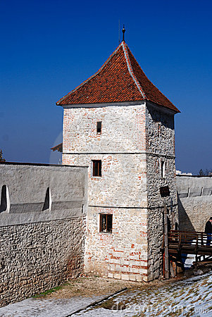 Brasov fortification wall and tower, Transylvania.