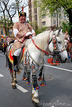 Brasov Junes Parade, may 2011 Editorial Stock Photo
