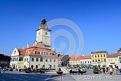 Brasov Main Square Editorial Photo