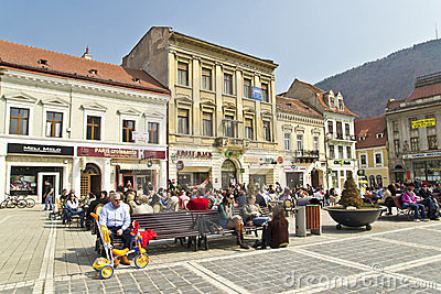 Brasov Main Square Editorial Photography