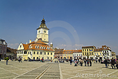 Brasov Town Square Editorial Image