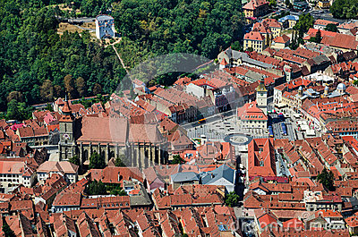 Brasov upperview, Romania landmark