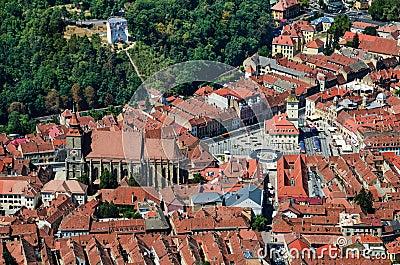 Brasov upperview, Romania landmark