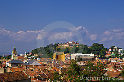 Brasov view with the Citadel