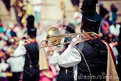 Brass band parade Editorial Photo